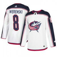 Columbus Blue Jackets #8 Zach Werenski White Away Jersey