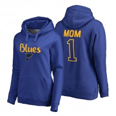 St. Louis Blues 2018 Fanatics Mother's Day Number 1 Mom Pullover Hoodie Royal
