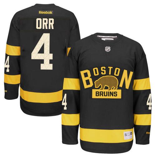 d01fdc9f6 Boston Bruins Bobby Orr #4 Black 2016 Winter Classic Premier Jersey