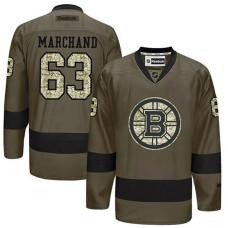 Boston Bruins Brad Marchand #63 Green Camo Player Jersey