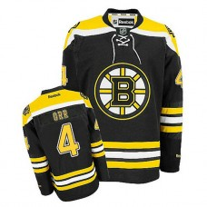 Boston Bruins Bobby Orr #4 Black Home Jersey
