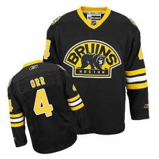 Youth Boston Bruins Bobby Orr #4 Black Alternate Jersey