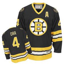 Youth Boston Bruins Bobby Orr #4 Black Throwback Jersey