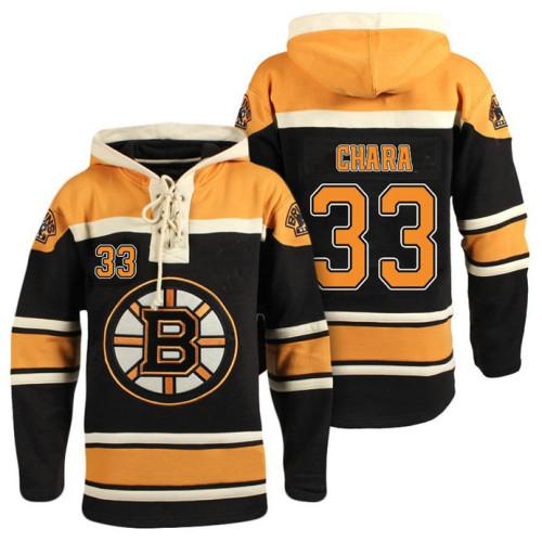 cheap for discount 50faf f63b8 Boston Bruins #33 Zdeno Chara Black Throwback Pullover Hoodie