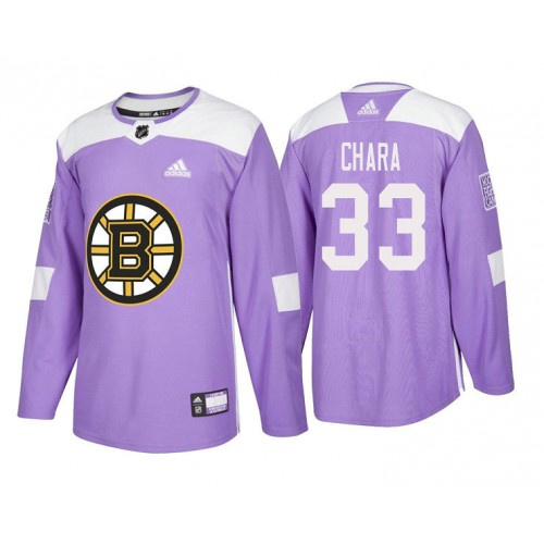 Boston Bruins  33 Zdeno Chara Purple 2018 Adidas Authentic Hockey Fights  Cancer Jersey 3b378e676