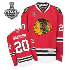 Chicago Blackhawks Brandon Saad #20 Red 2015 Stanley Cup Home Jersey