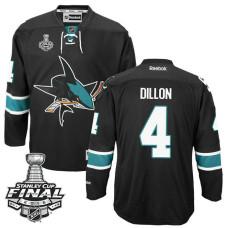 San Jose Sharks Brenden Dillon #4 Black 2016 Stanley Cup Alternate Champions Jersey