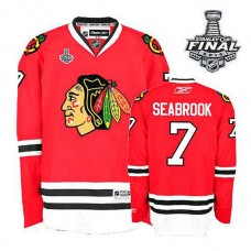 Women's Chicago Blackhawks Brent Seabrook #7 Red 2015 Stanley Cup Home Jersey