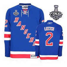 New York Rangers Brian Leetch #2 Royal Blue 2014 Stanley Cup Home Jersey