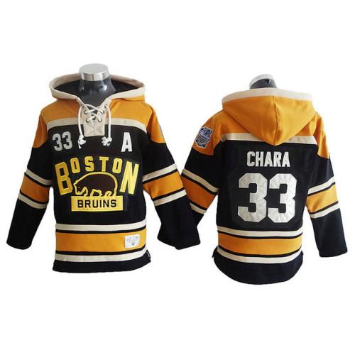 4832b4c41 Boston Bruins Zdeno Chara  33 Black Winter Classic Hoodie