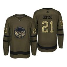 Buffalo Sabres #21 Kyle Okposo Camo Salute To Service Jersey