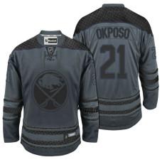 Buffalo Sabres #21 Kyle Okposo Storm Cross Check Fashion Jersey