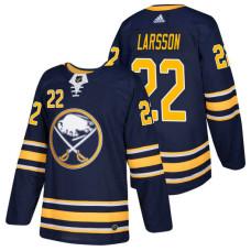 Buffalo Sabres #22 Johan Larsson Navy 2018 New Season Home Authentic Jersey