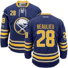 Buffalo Sabres #28 Nathan Beaulieu Blue 2017 Draft Premier Hockey Jersey