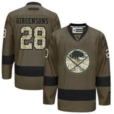 Buffalo Sabres Zemgus Girgensons #28 Green Camo Player Jersey