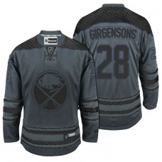 Buffalo Sabres #28 Zemgus Girgensons Storm Cross Check Fashion Jersey