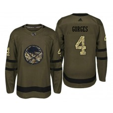Buffalo Sabres #4 Josh Gorges Camo Salute To Service Jersey