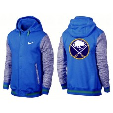 Buffalo Sabres Royal/Gray Join In The Club Button Up Varsity Jacket