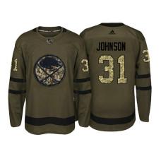 Buffalo Sabres #31 Chad Johnson Camo Salute To Service Jersey