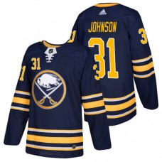 Buffalo Sabres #31 Chad Johnson Navy 2018 New Season Player Home Jersey