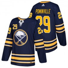 Buffalo Sabres #29 Jason Pominville Navy 2018 New Season Player Home Jersey