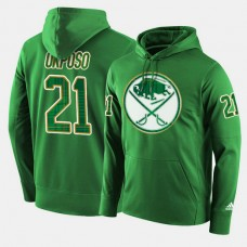 Buffalo Sabres #21 Kyle Okposo Green St. Patrick Day Pullover Hoodie