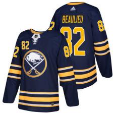 Buffalo Sabres #82 Nathan Beaulieu Navy 2018 New Season Player Home Jersey