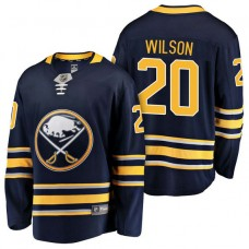 Buffalo Sabres #20 Breakaway Player Scott Wilson Home Jersey Navy