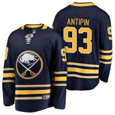 Buffalo Sabres #93 Breakaway Player Victor Antipin Home Jersey Navy