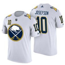 Buffalo Sabres #10 Jacob Josefson White Adidas Player Jersey Style T-shirt
