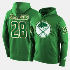 Buffalo Sabres #28 Zemgus Girgensons Green St. Patrick Day Pullover Hoodie