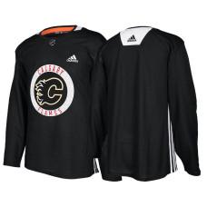 Calgary Flames Black Adidas Pro Authentic Practice Jersey