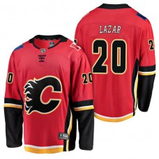 Calgary Flames #20 Breakaway Player Curtis Lazar Jersey Red