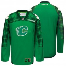 Calgary Flames Green St. Patrick Day Blank Jersey