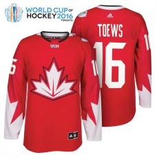 Ice Hockey Jonathan Toews #16 Red 2016 World Cup Premier Player Jersey