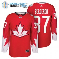 Ice Hockey Patrice Bergeron #37 Red 2016 World Cup Premier Player Jersey