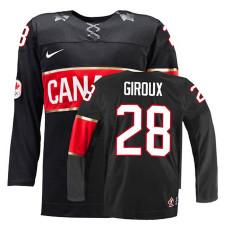 Canada Team Claude Giroux #28 Black Premier Olympic Jersey
