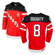 Canada Team Drew Doughty #8 Red 100th Anniversary Premier Olympic Jersey
