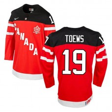 Canada Team Jonathan Toews #19 Red 100th Anniversary Premier Olympic Jersey