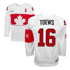 Canada Team Jonathan Toews #16 White Home Premier Olympic Jersey