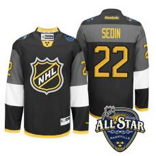Vancouver Canucks Daniel Sedin #22 Black 2016 All-Star Premier Jersey