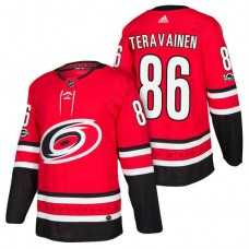 Carolina Hurricanes #86 Teuvo Teravainen Red 2018 New Season Home Authentic Jersey
