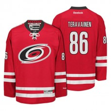 Carolina Hurricanes #86 Teuvo Teravainen Red Hockey Home Premier Jersey
