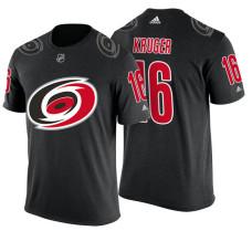 Carolina Hurricanes #16 Marcus Kruger Black Adidas Player T-shirt