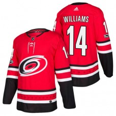 Carolina Hurricanes #14 Justin Williams Red 2018 New Season Player Home Jersey