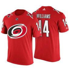 Carolina Hurricanes #14 Justin Williams Red Adidas Player T-shirt