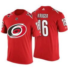 Carolina Hurricanes #16 Marcus Kruger Red Adidas Player T-shirt