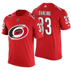 Carolina Hurricanes #33 Scott Darling Red Adidas Player Jersey Style T-shirt