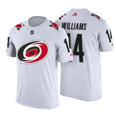Carolina Hurricanes #14 Justin Williams White Adidas Player T-shirt