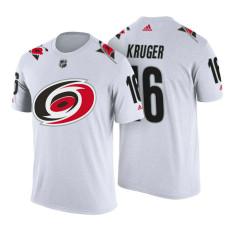 Carolina Hurricanes #16 Marcus Kruger White Adidas Player T-shirt
